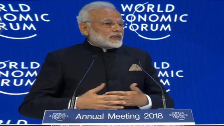 Modi, in Davos, Praises Globalization Without Noting India's Trade Barriers