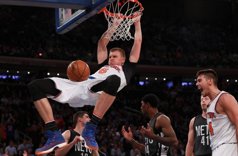 NBA superstar Kristaps Porzingis out for season after ACL tear