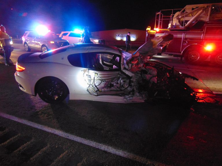 Officers badly hurt after being hit by Maserati