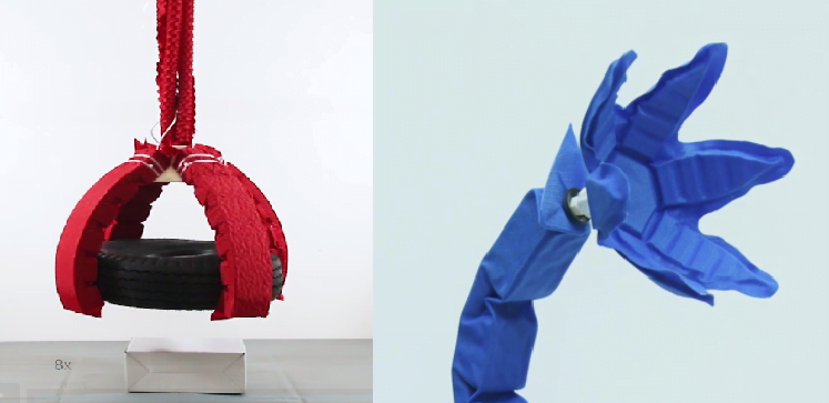 Origami robot muscles lift 1,000 times its own weight