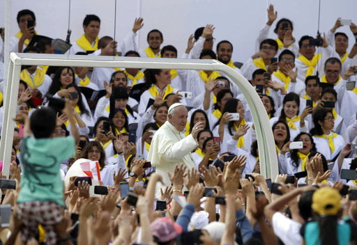 Pope Francis in Peru: Violence against women 'a plague'