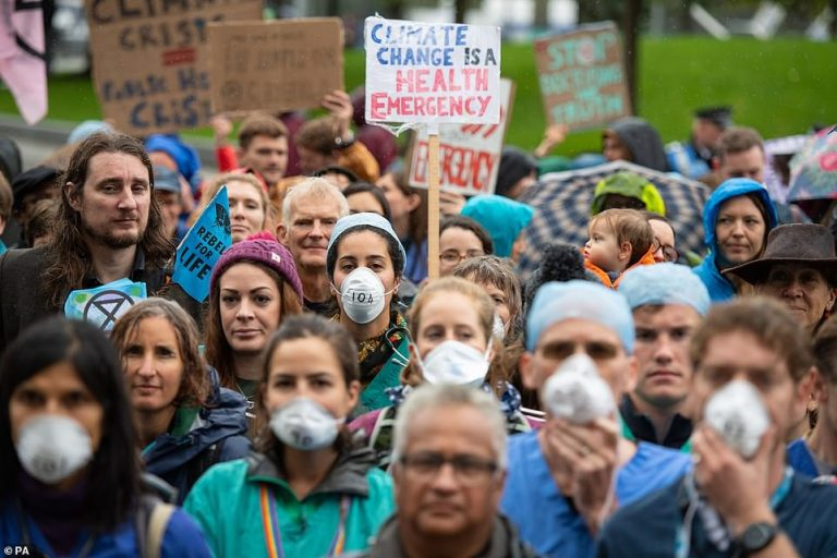 Rally in London calls for action on NHS 'crisis'