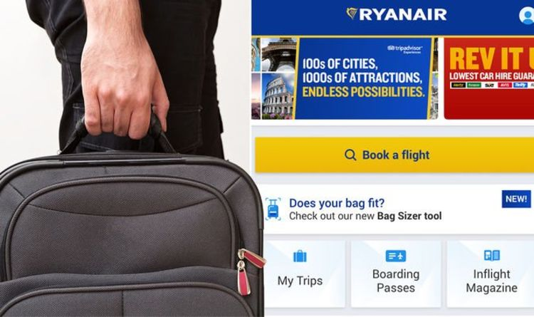 Ryanair changes rules for on board baggage