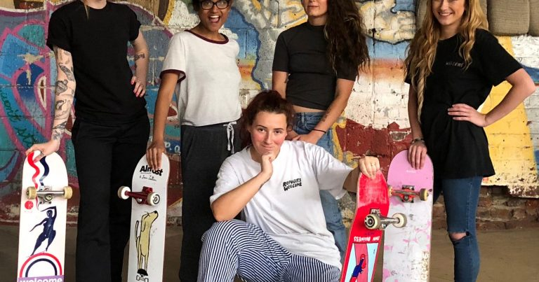 Skateboarding like a girl: 'You should not be intimidated'