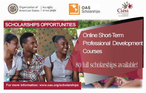 The OAS offers scholarships for master's degrees online
