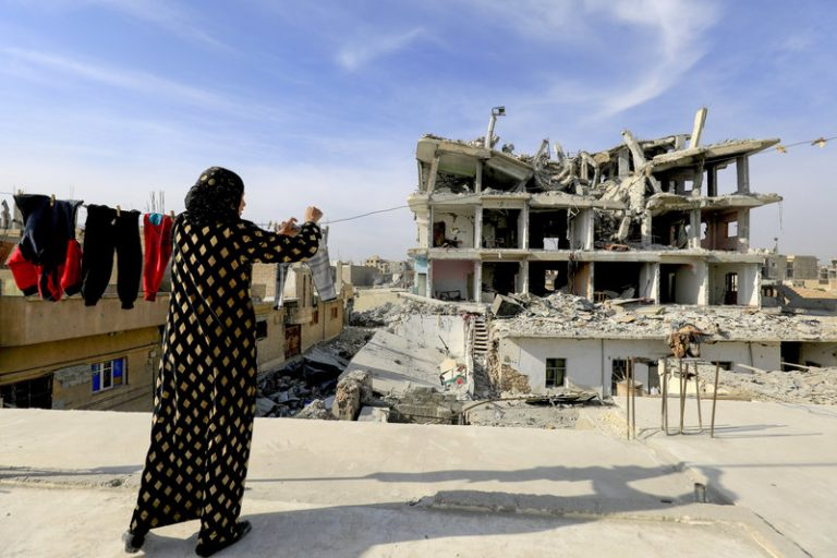 The Raqqa house and family left in ruins
