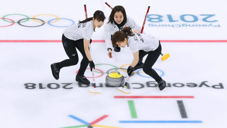Winter Olympics: Great Britain men's curlers beat Japan after women lose to US