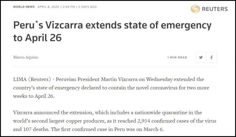 Vizcarra blames those who continue to quarantine for the increase in nearly 4,000 infections in a day