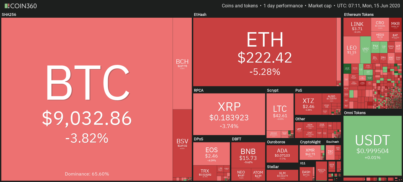 Daily overview of the cryptocurrency market