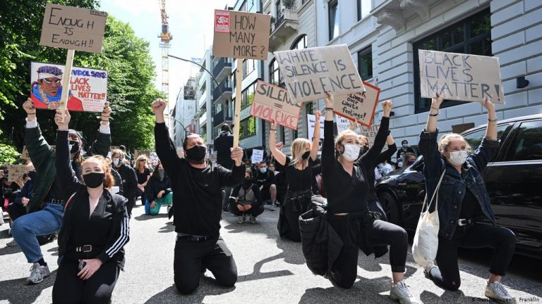Around 3,000 people demonstrate in Frankfurt against racism and police brutality