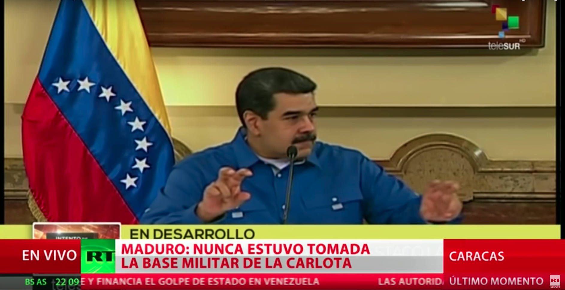 Maduro's government suggests that Guaidó seek refuge in the French embassy
