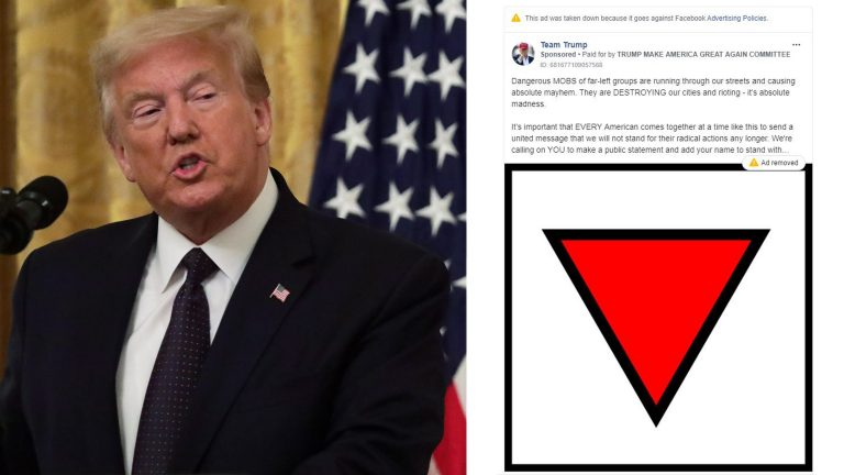 Remove Facebook ads from the Trump campaign to use a Nazi symbol