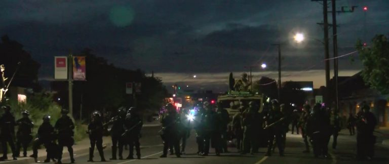 Several were arrested for shooting in protest of a statue of the Spanish conqueror Juan de Oñate in the United States