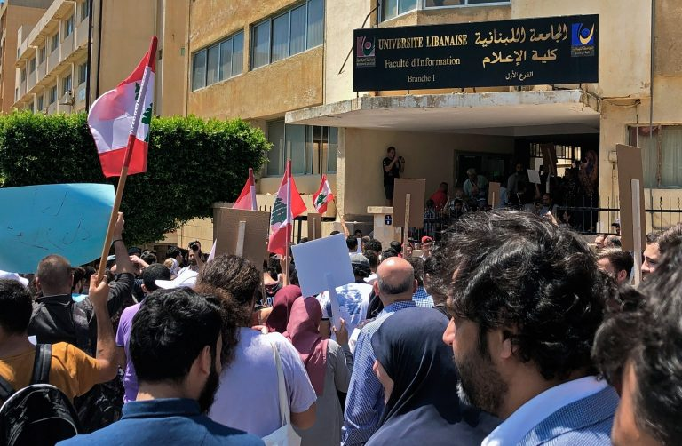 The Lebanese central bank is burning as protests against the currency crash increase