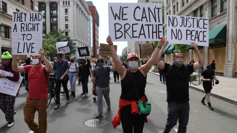 The U.S. Attorney General defends the use of tear gas against demonstrators in Washington on Monday