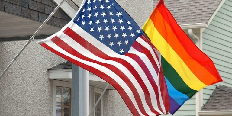 The US embassy in Russia is raising the gay flag