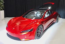 This would be the acceleration of the Tesla Roadster with jet thrusters