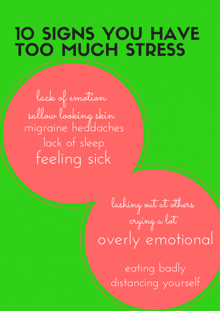 10 signs that you are too stressed
