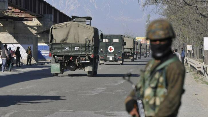 At least six militiamen were killed in two Indian army operations in Jammu and Kashmir