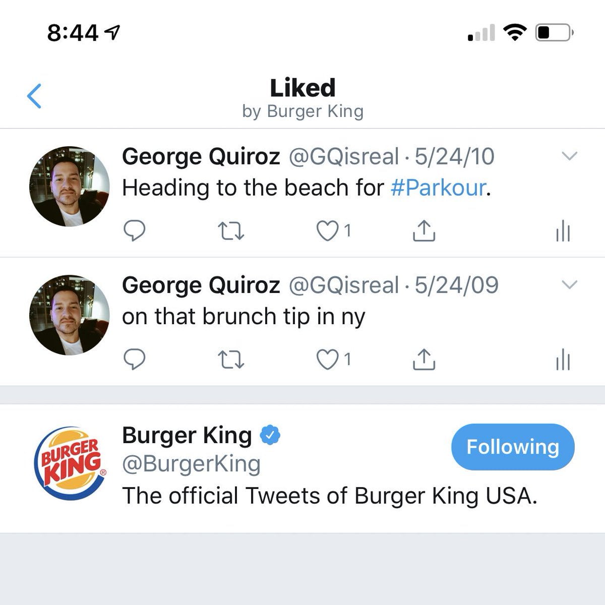 Burger King posted this question on Twitter