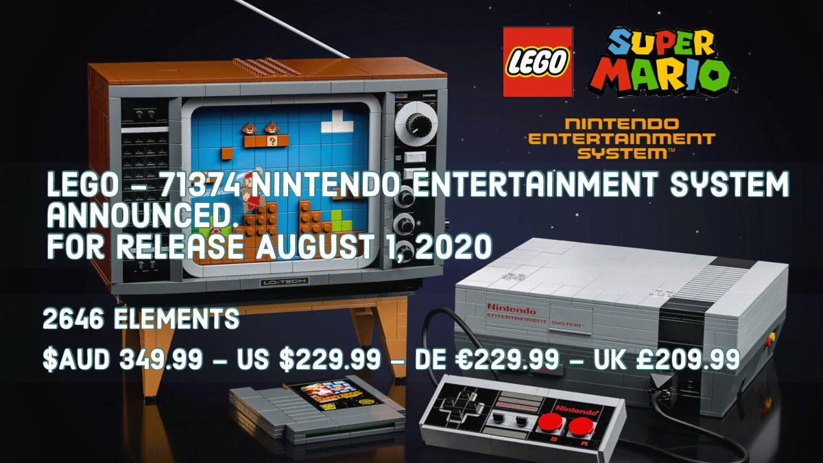 LEGO has announced a kit to help you build your own Nintendo console