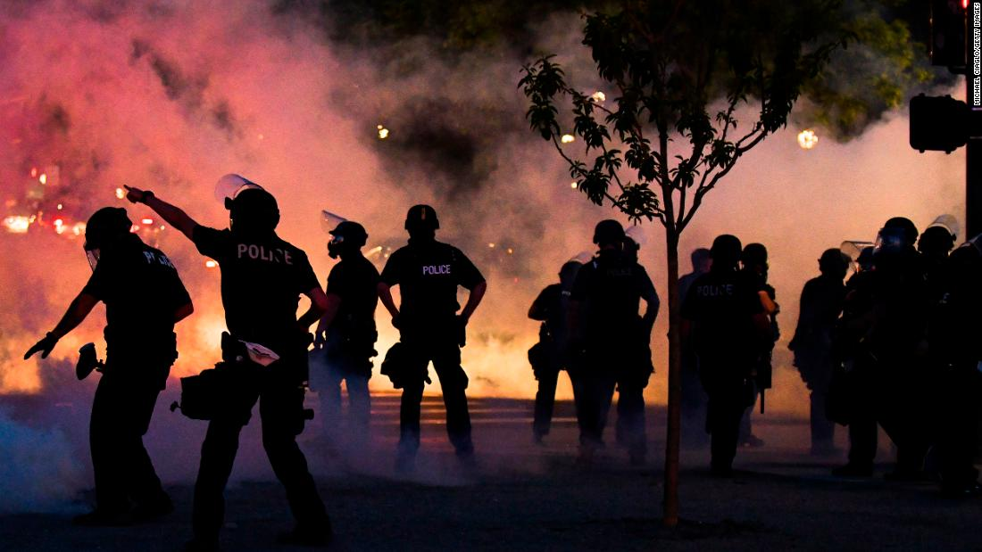 Protests originating in Seattle result in 45 arrests and 21 injured police officers
