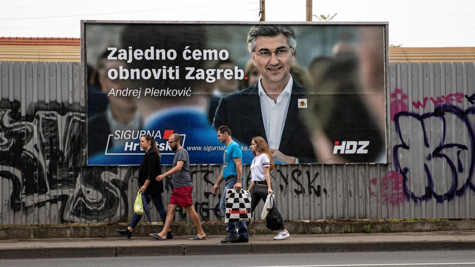 The Croatian president instructed Plenkovic to form a government after the election victory