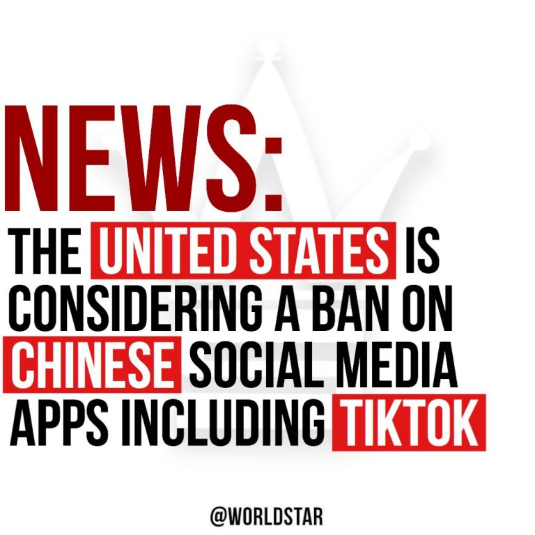 The United States government is considering banning TikTok