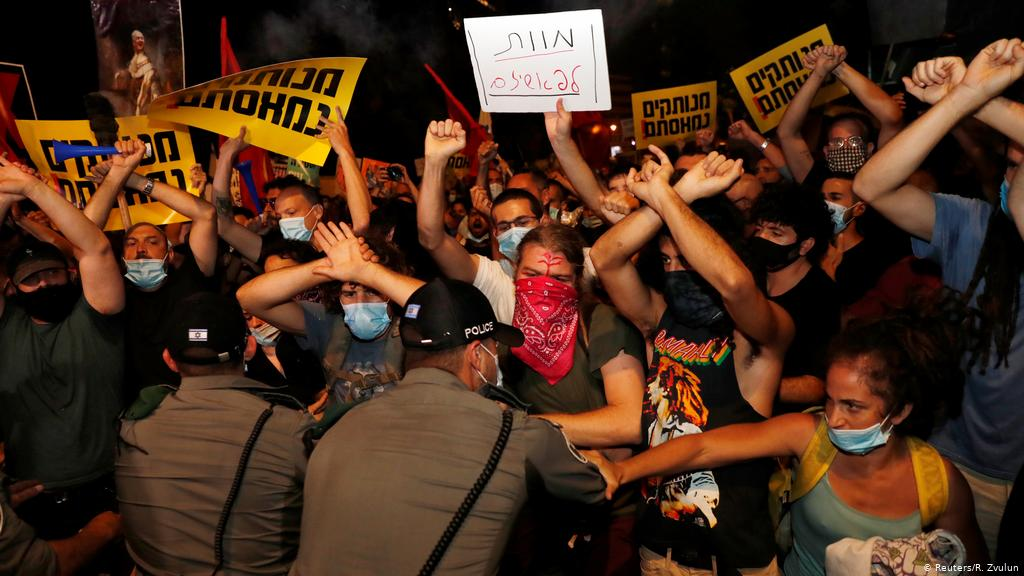 Thousands of Israelis are protesting the Netanyahu government for fighting the coronavirus pandemic