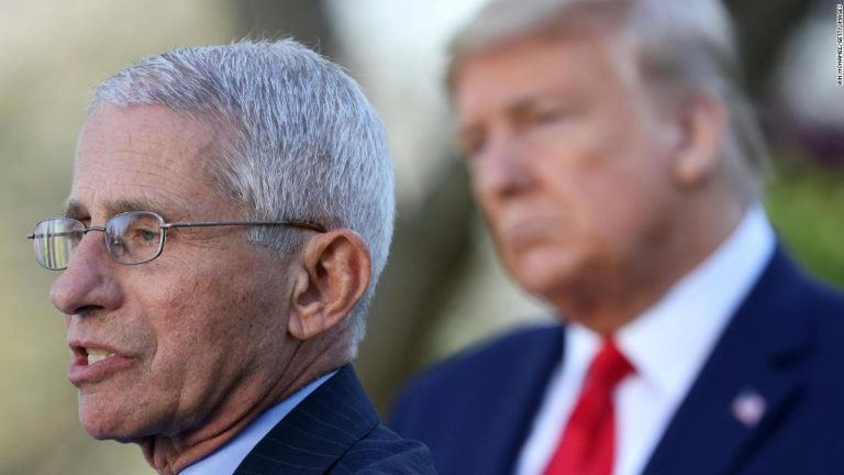 "Trump downplayed his disagreements with Fauci, claiming ""he has a very good relationship with him"""
