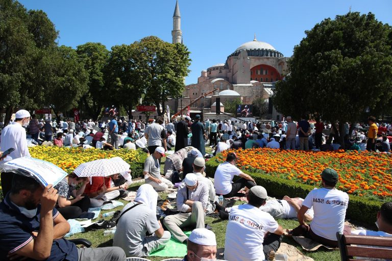 Turkey condemns protests in Greece against Muslim prayer in Hagia Sophia
