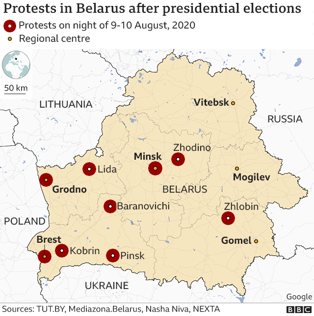 At least 65 journalists arrested in Belarus during protests against Lukashenko's re-election