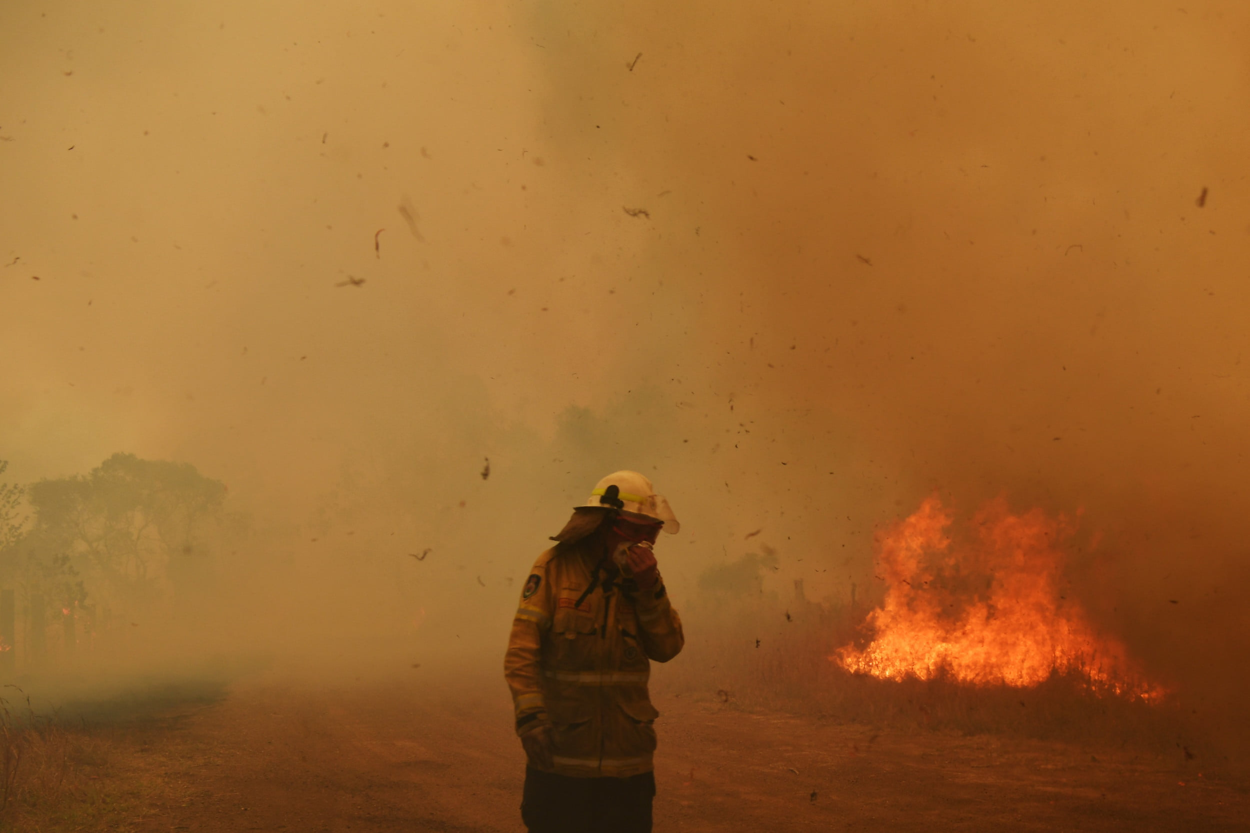 Australia is fighting the first big fire of the season with wildfire in New Wales