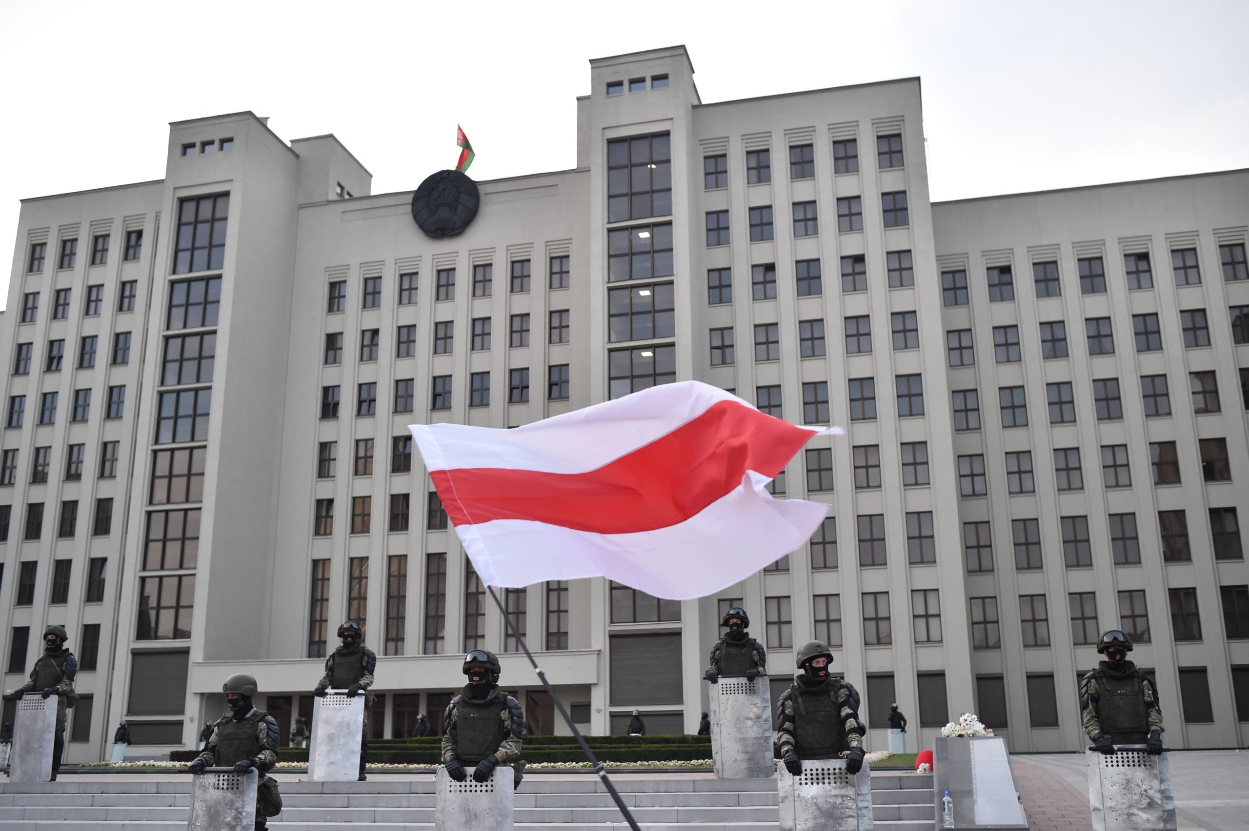 EU leaders agree to sanction Belarus and are open to democratic transition