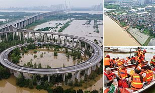 Floods from heavy rains in China have left more than 200 dead and missing since June