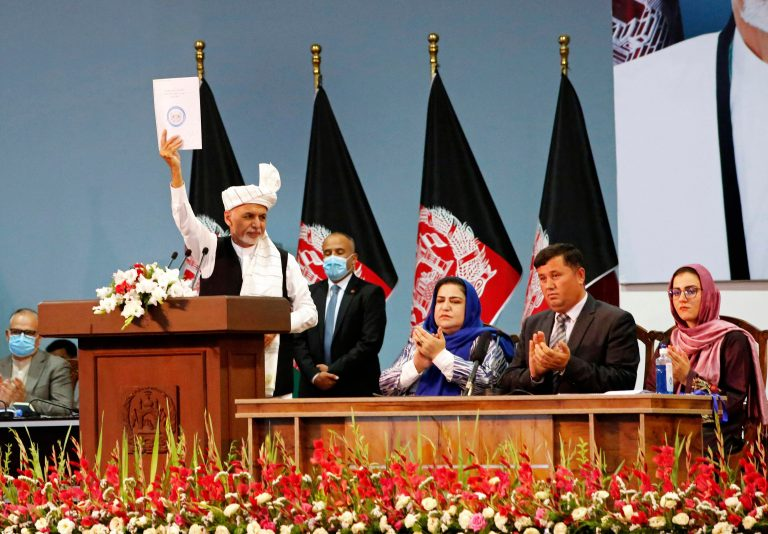 Ghani announces to the members of the high council that they will start historic talks with the Taliban