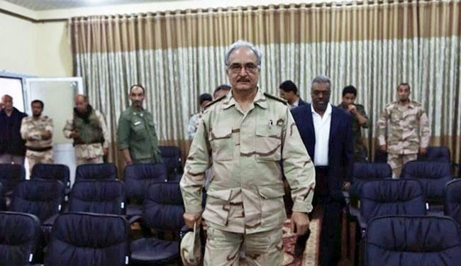 Haftar is asking the United States for help in controlling Libyan borders against arms trafficking
