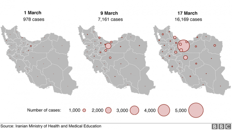 Iran has more than 320,000 cases of coronavirus and nearly 18,000 deaths