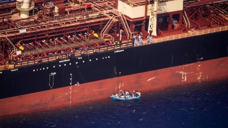 Sea Watch reports that 27 migrants rescued at sea have been on board an oil tanker off Malta for three weeks