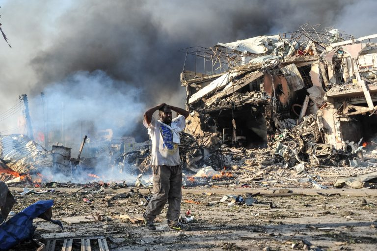 Suicide bombings reported outside the restaurant in the Somali capital