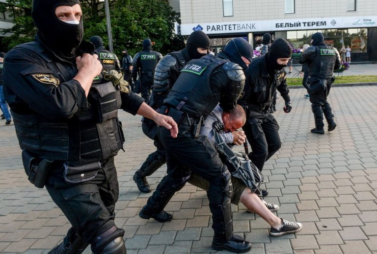 The Belarusian government denies that the Minsk police used firearms against demonstrators