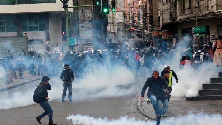 """The Bolivian government minister says """"placing a bullet would be the right thing to do"""" to end the protests"""
