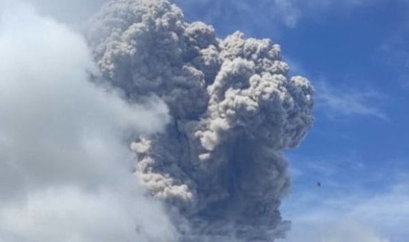 The Indonesian volcano Sinabung erupted for the third time last week