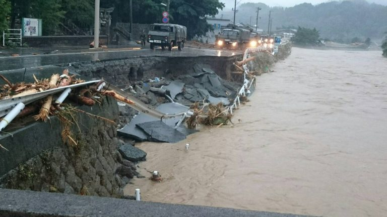 This week's floods in South Korea killed at least 28 people