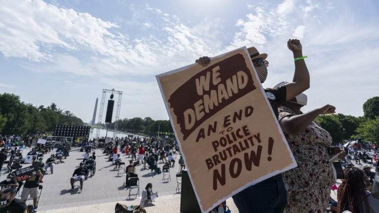 Thousands demand justice in Washington in a massive march against racism and police brutality