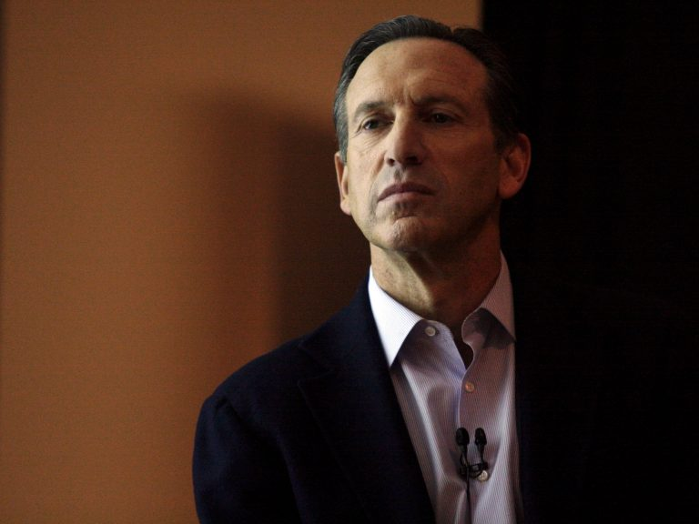 """We could lose the next Starbucks if we don't support small businesses,"" says Howard Schultz"
