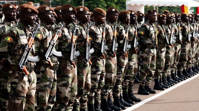 At least three soldiers were killed and four injured in an ambush in central Mali