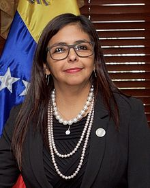 Delcy Rodríguez, appointed Minister of Economy and Finance of Venezuela