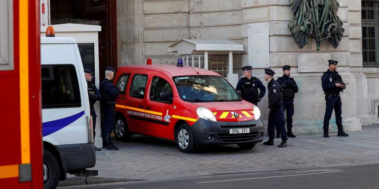 Four stab wounds near Charlie Hebdo's former headquarters in Paris