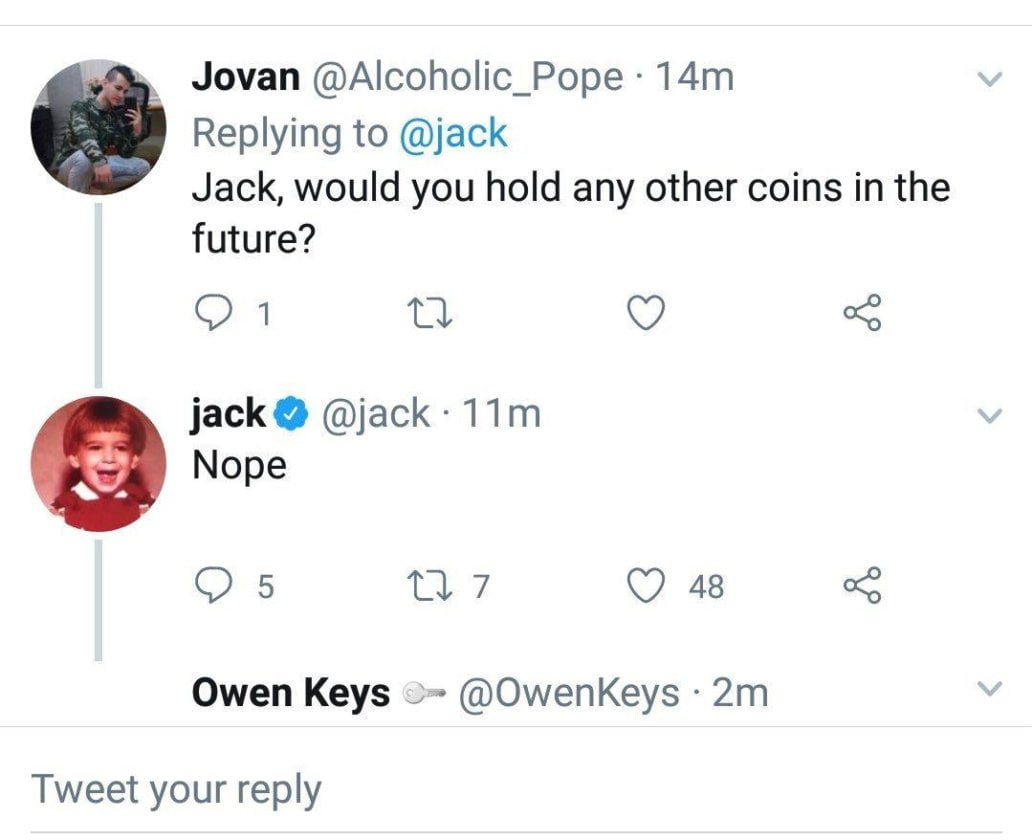 Jack Dorsey says Bitcoin holds the keys to security